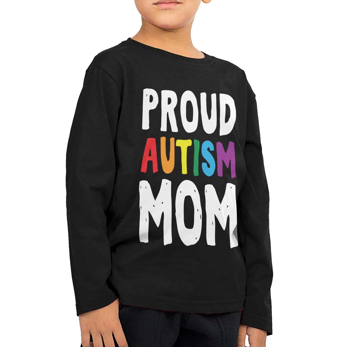 CERTONGCXTS Little Boys Proud Autism Mom ComfortSoft Long Sleeve Shirt