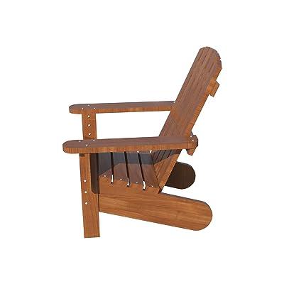 Adirondack Chair Plans DIY Patio Lawn Deck Garden Furniture Stool Outdoor Wood: Kitchen & Dining