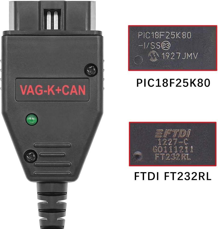 EOBD ECU Programming Cable for VW Audi Skoda SEAT. Washinglee 1260 ECU Chip Tuning Tool for Diesel TDi HDI JTD and Petrol Cars