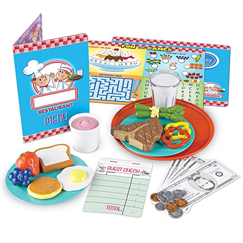 Food Diner - Learning Resources Serve It Up! Play Restaurant, 36 Pieces