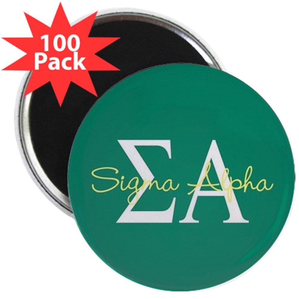CafePress - Sigma Alpha - 2.25'' Magnet (100 pack)