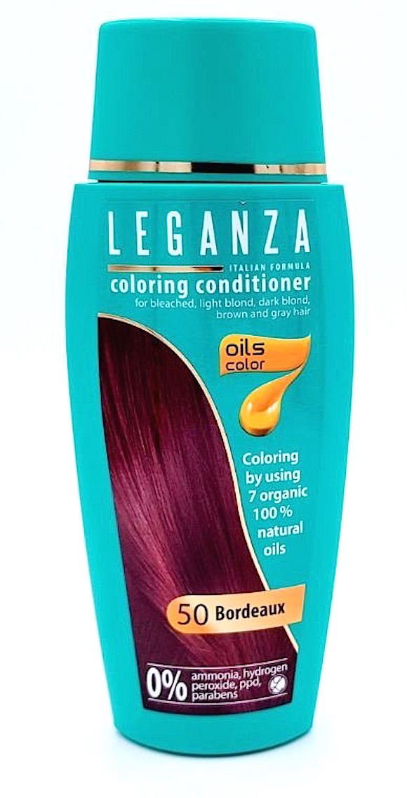 Leganza Coloring Conditioner Color 71 Cafe Latte with 7 Natural Oils Ammonia and Paraben Free Rosa Impex