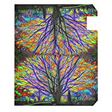Wamika Rainbow Tree of Life Mailbox Cover Colorful
