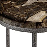 Bowery Hill End Table in Petrified Wood and Gray