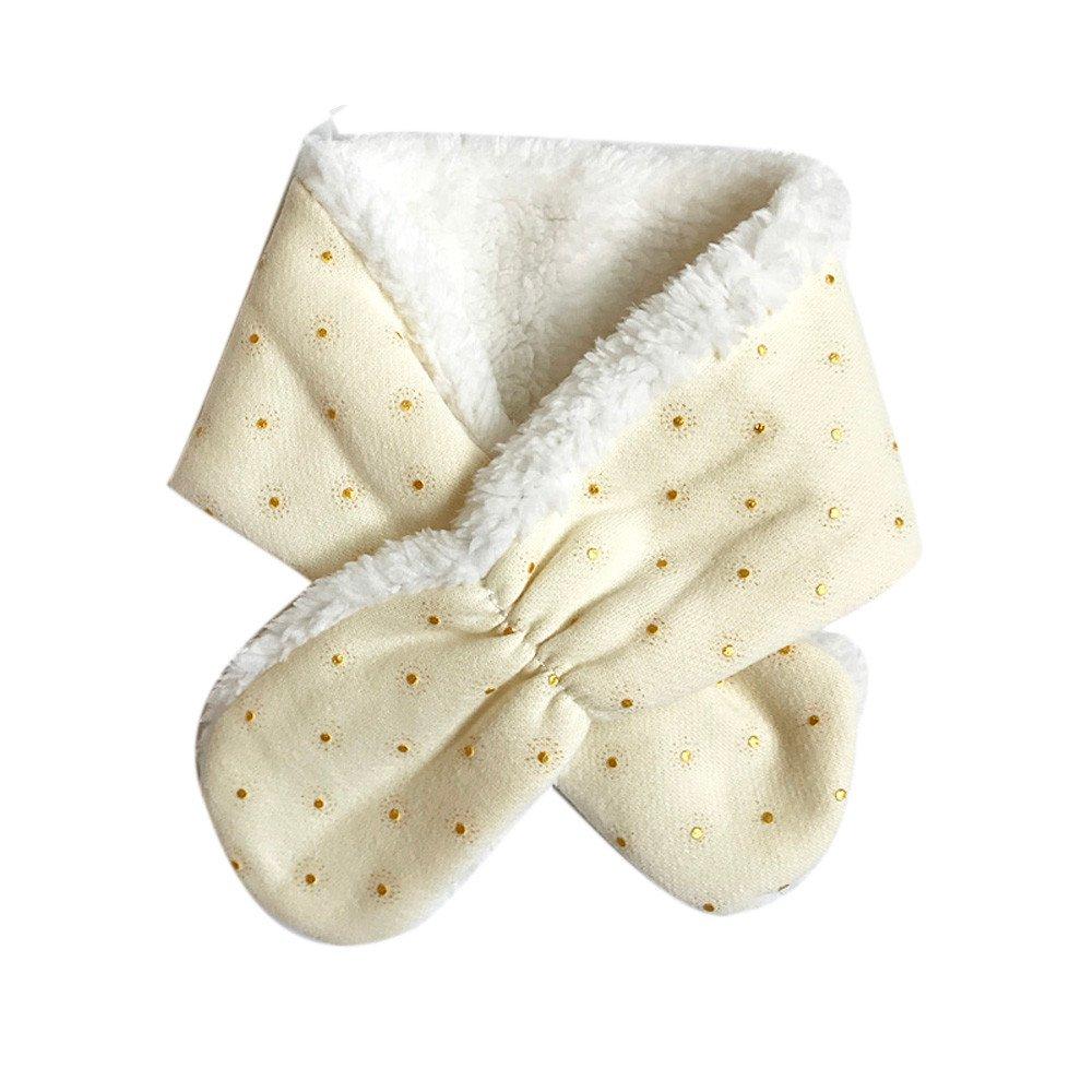 Baby Winter Scarf, Inkach Toddler Kids Faux Fur Neck Warmer Shawl Scarves Warm Neckerchiefs (Beige)