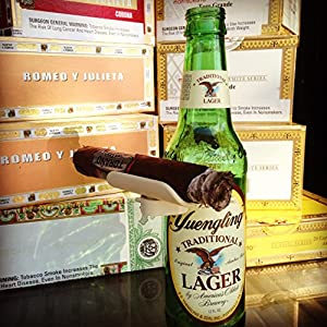 Cigar Holder. CigarzUp Fits onto any Bottled Beverage! Perfect Gift, Cigar Accessory for any Cigar Enthusiast! (IVORY) (IVORY)