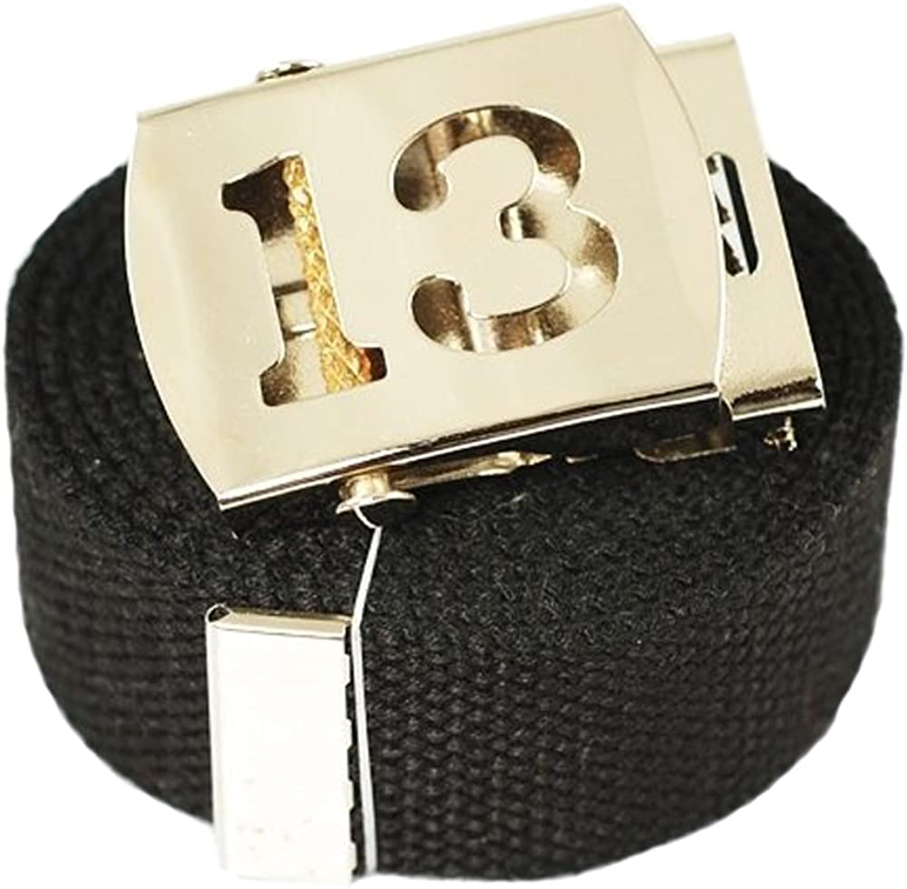 ACCmall Old English Initial T Canvas Military Web Black Belt /& Silver Buckle 60 Inch