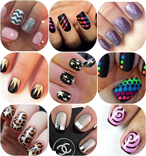 back-to-the-basics-variety-nail-art-stencil-pack-10-sheets-10-different-designs