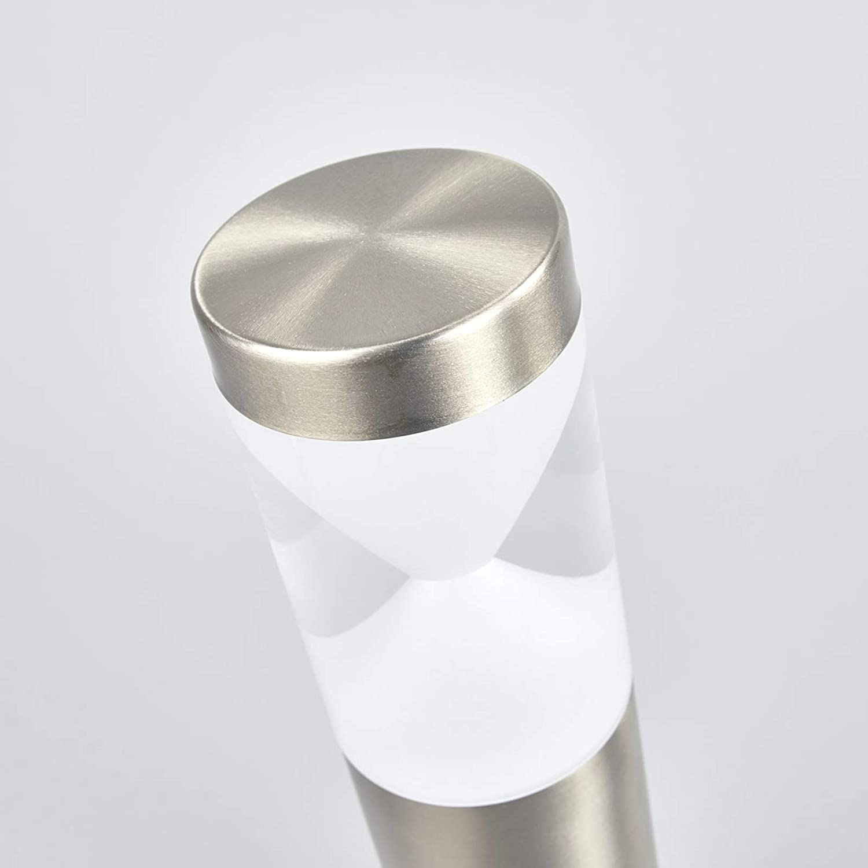 lampioncino colore Grigio paletto luminoso lampione lampada da viale 1 luce, A+ Moderno Lampada da esterni Fabrizio di Lindby in Acciaio Inox