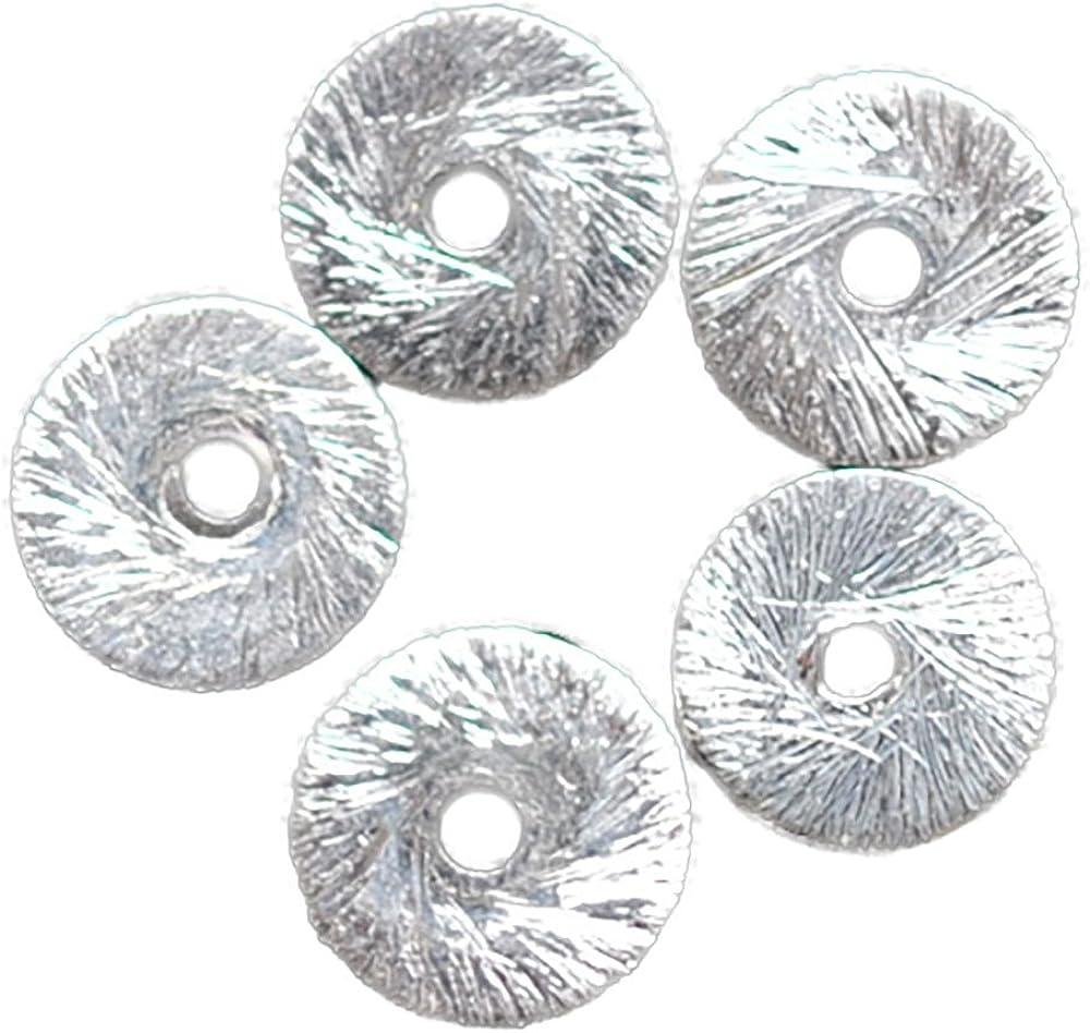 09010-16 disques de 925er argent 4 MM brossé