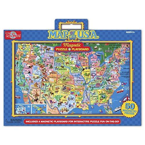 T.S. Shure Map of The U.S.A Magnetic Puzzle and Playboard
