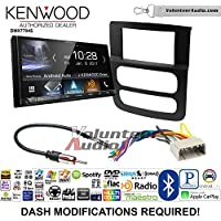 Volunteer Audio Kenwood DMX7704S Double Din Radio Install Kit with Apple CarPlay Android Auto Bluetooth Fits 2002-2005 Ram