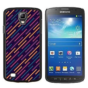 EJOOY---Cubierta de la caja de protección para la piel dura ** Samsung Galaxy S4 Active i9295 ** --luces futuristas modelo azul naranja
