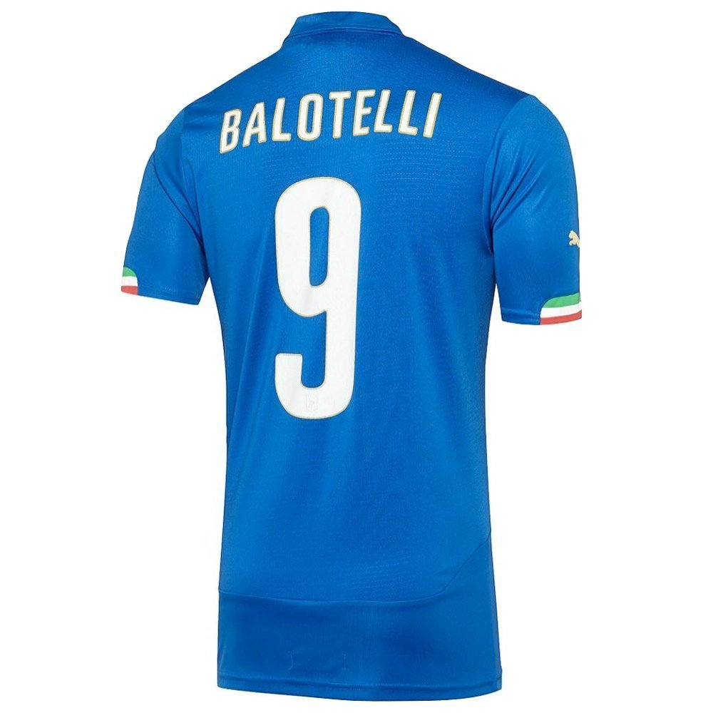 PUMA BALOTELLI #9 ITALY HOME JERSEY WORLD CUP 2014 (Authentic name and number)/サッカーユニフォーム イタリア ホーム用 バロテッリ 背番号9 B011M6JN4E 2XL