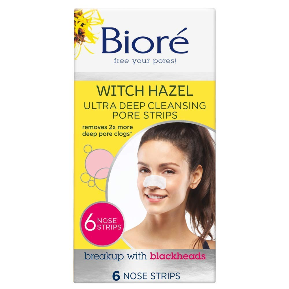 Biore Ultra Deep Cleansing Pore Strips, 6 Count (Packaging May Vary)