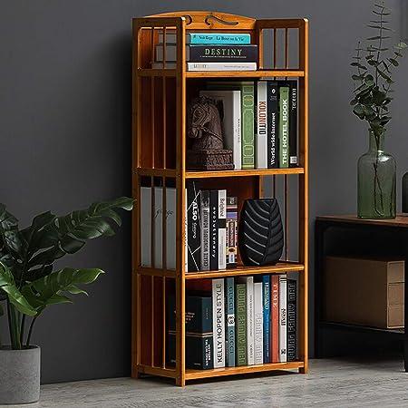 Bookcases Estantería de 4 estantes de Madera Dura para Libros ...