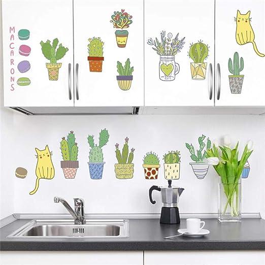 BARCN Etiqueta de la Pared Planta Cactus Paisaje Pegatinas De ...