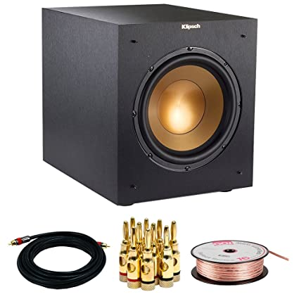 "Klipsch R-10SWi Powerful 10"" 300w Wireless Subwoofer (1063513) w/ Accessories"