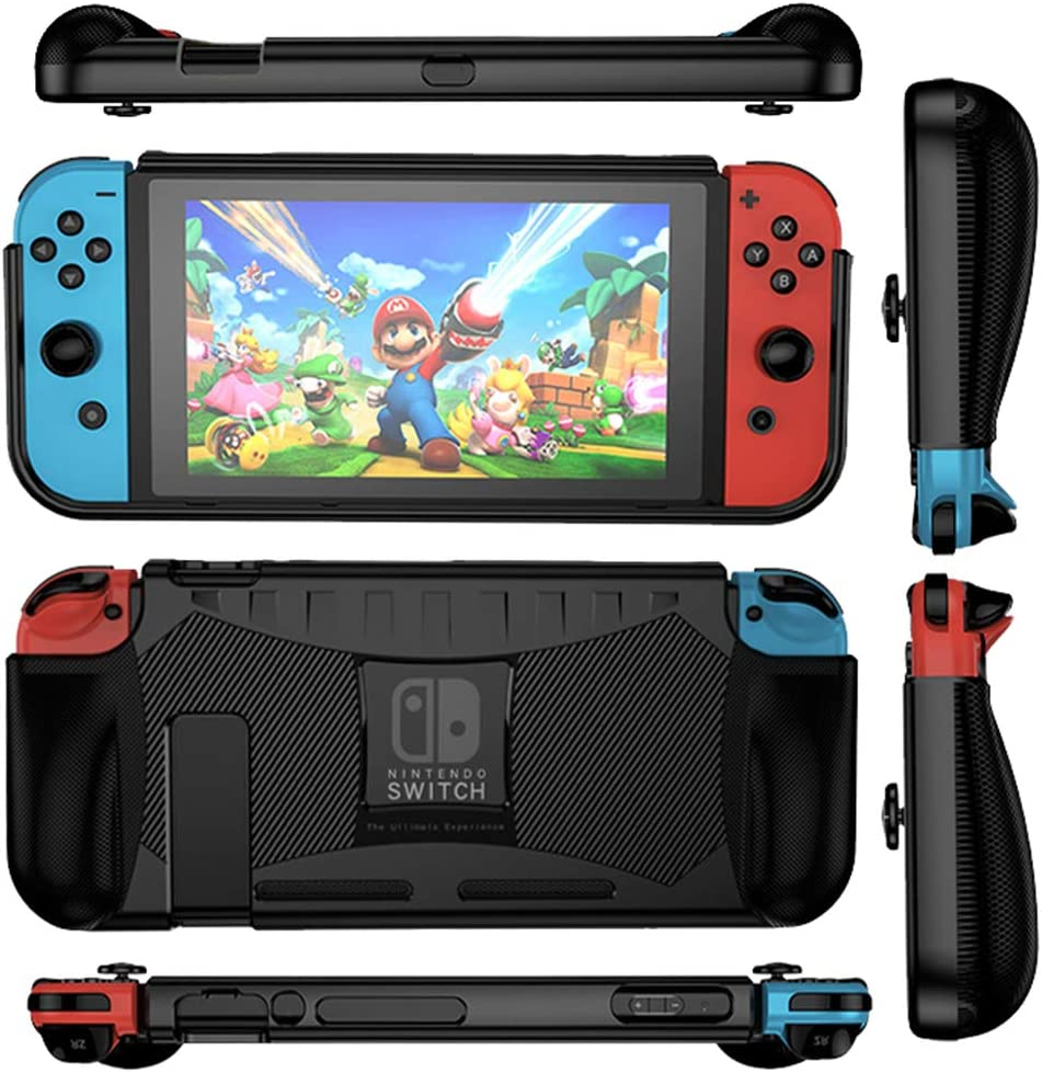 Funda protectora Nintendo Switch TPU Grip (negro): Amazon.es ...