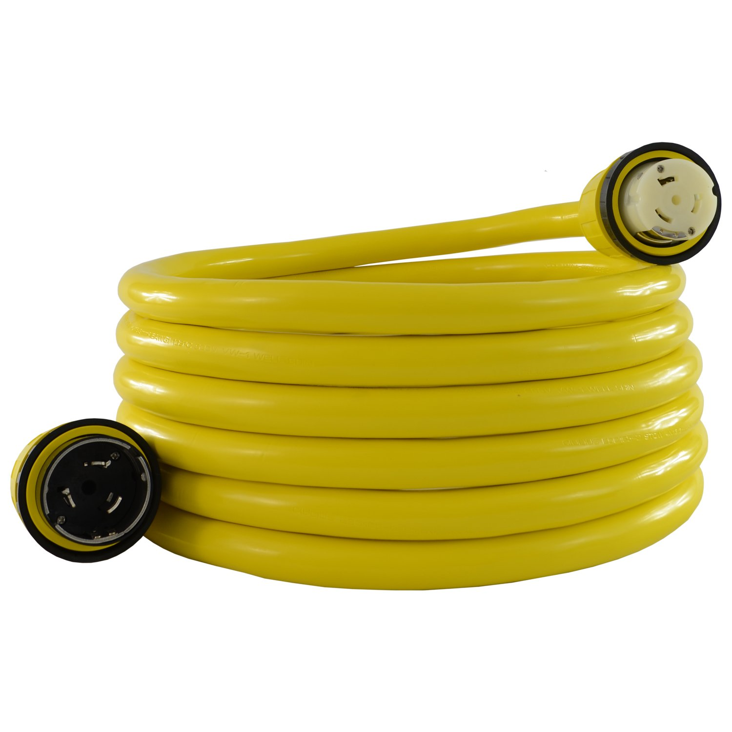 Conntek 17306: 50 Amp 125/250-Volt Marine Shore Power 4 Wire Extension Cord with Threaded Ring (25 FT)
