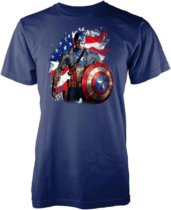 Camiseta unisex para adultos y niños, diseño de los Vengadores de Capitán América: Amazon.es: Ropa y accesorios