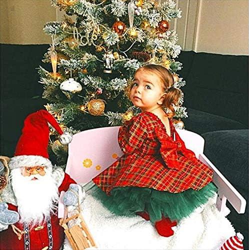 Gonna in Tulle Carolilly Natale 2 Pezzi Completini Neonata Bambina Abito Principessa con Paillettes a Manica Lunga