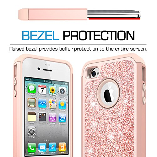 e4fd44059f iPhone 4S Case,iPhone 4 Case with Tempered Glass Screen - Import It All
