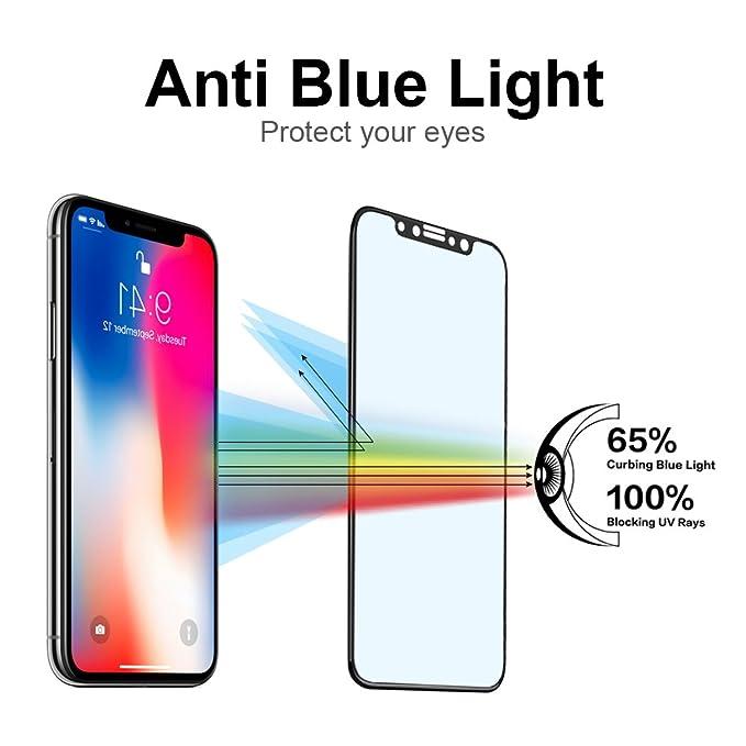 separation shoes 6254a e341e Amazon.com: Blue Light Blocking Screen Protector for iPhone X/10 ...