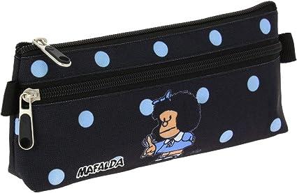 Grafoplás 37540772 - Estuche Escolar Plano Mafalda Lunares, 22cm ...