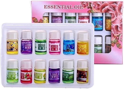 defusser aceite esencial, 12 Pack agua soluble juego de aceites ...