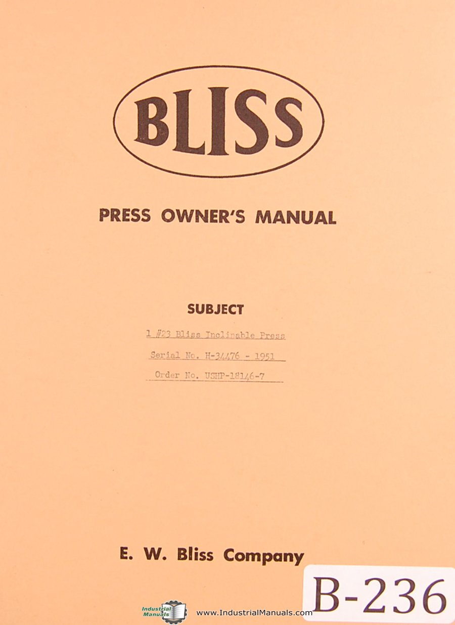 Bliss Rolling Key Clutch Service /& Operation Manual