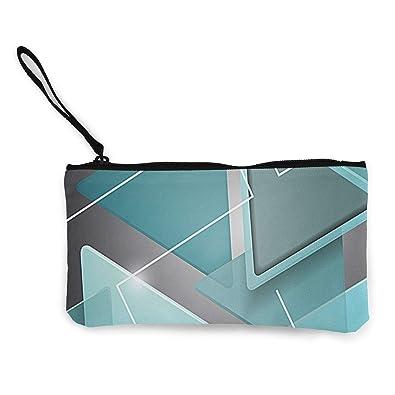 Amazon.com: Monedero de lona, diseño de triángulo, color ...