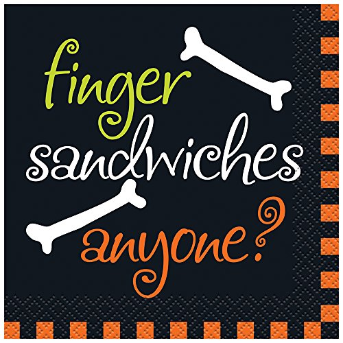 Finger Sandwiches Halloween Beverage Napkins, 16ct (Halloween Finger Sandwiches)