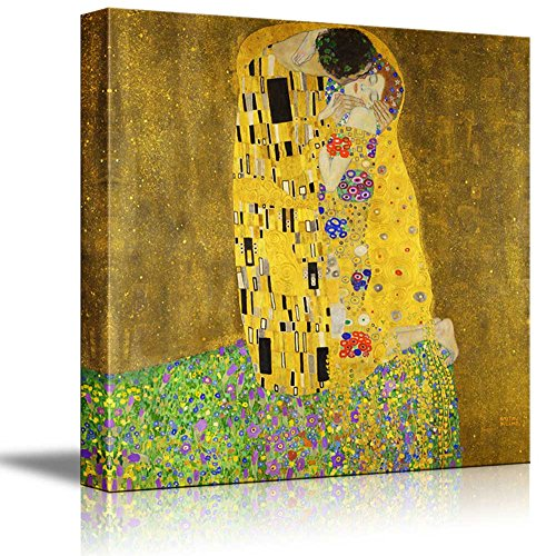 The Kiss by Gustav Klimt Austrian Symbolist Painter Golden Phase