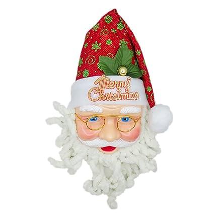 ba0ab6c69ddd0 Haga clic en Santa Claus con verde del copo de nieve sombrero rojo para  árbol de