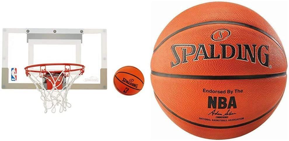 bleu//blanc//rouge Multicolore Ballon Inclus Mixte Adulte Mini Panier Basket Spalding 77602Z - 29 cm x 24 cm