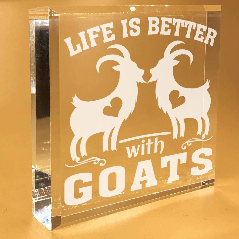 Goat Gifts For Goat Lovers | Women | Girls | Men | Adults | Her | Desk Plate | Christmas | Paperweight | Keepsake