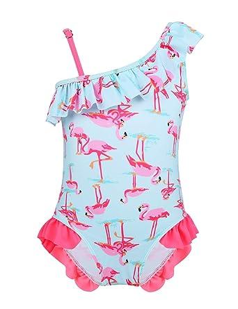 Freebily Traje de Baño Niños Swimsuit de Un Hombro Bebé Niñas ...