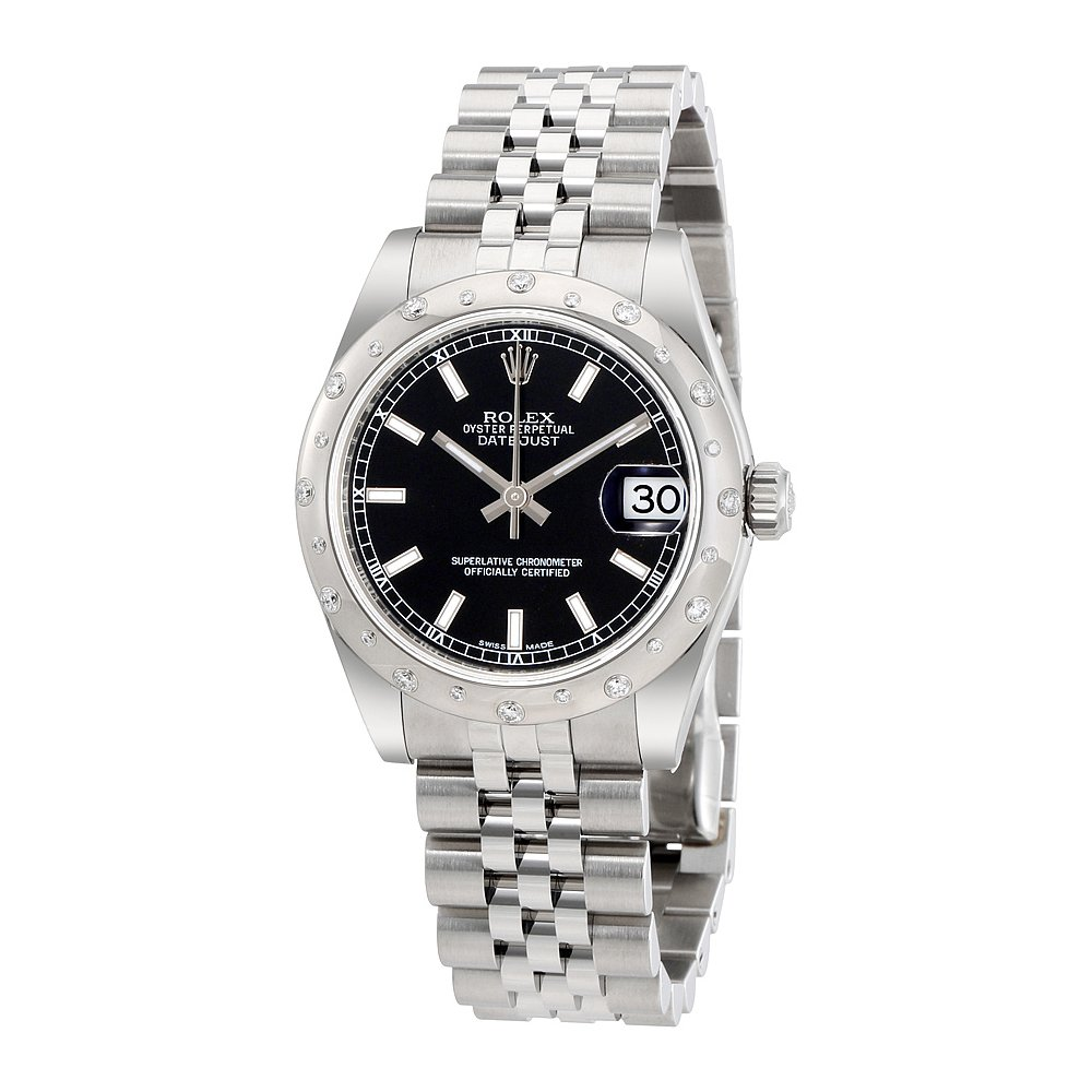 Amazon Com Rolex Oyster Perpetual Datejust 31 Black Dial Stainless