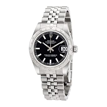 7e5d620105cc Image Unavailable. Image not available for. Color  Rolex Oyster Perpetual  Datejust 31 Black Dial Stainless Steel Rolex Jubilee Automatic Ladies Watch  ...