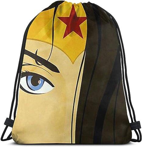 Greatbe Mochila Deportiva con cordón Unisex: la increíble Wonder Woman Mochila Deportiva con cordón Bolsa de Gimnasio: Amazon.es: Deportes y aire libre