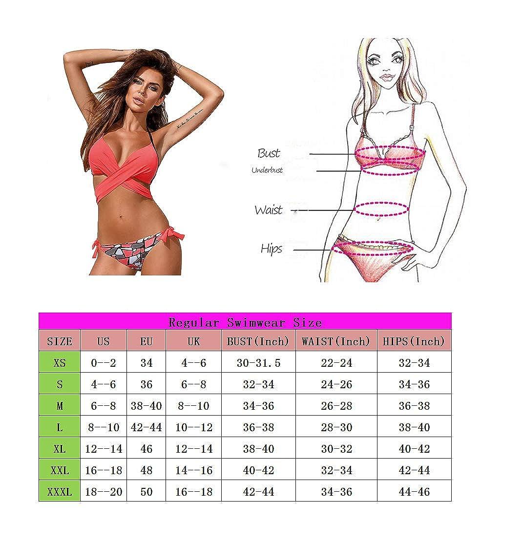 9dea753231 Maillots de Bain pour Femmes Maillot de Bain Deux pièces en Forme de Plage  Bikini - Sexy - Couleur Unie - Collier avec Licou en Croix et Triangle -  Top de ...