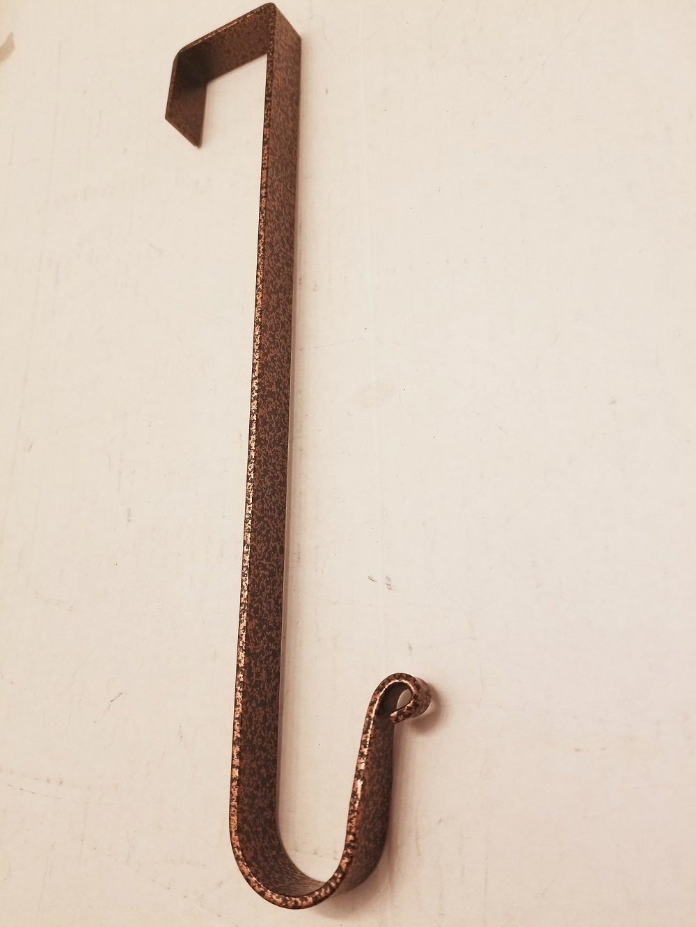 Wrought Iron Wreath Hanger Powder Coated in Aged Bronze - Hand Made By Amish of Lancaster County PA.