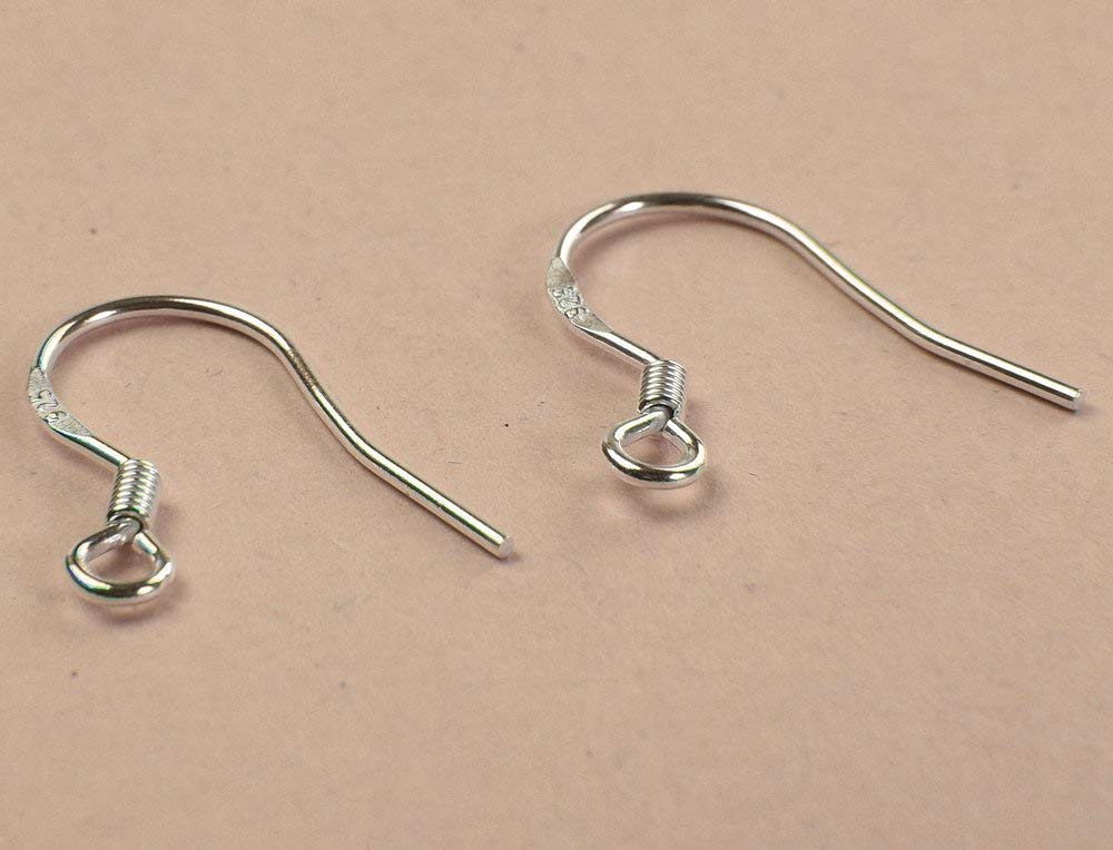 Xiaodou 50 Pairs 925 Sterling Silver French Wire Earring Hooks Fish Hook Earrings Sterling Silver Earwires