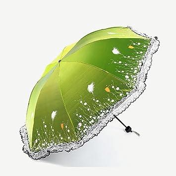 Paraguas Doble Del Sol Del Cordón, Acero Material De La Barra Del Paraguas, Fibra