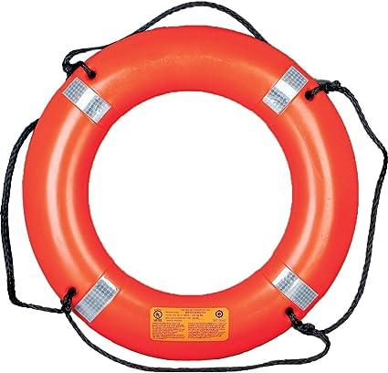 "White Cal June 24/"" Safety Life Ring Jim Buoy Marine Ship Boat Yacht"