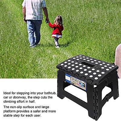 300lb Folding Step Stool, Non-slip Outdoor Adult Kid Elder Step Stool - Height Premium Heavy Duty Foldable Stool for Adults, Kitchen Garden Bathroom Stepping Stool: Home Improvement