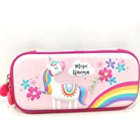 FunBlast Multipurpose Zipper Pencil Case, Pen & Pencil Pouch Bag Case for School Supplies for Kids (Unicorn - Small)
