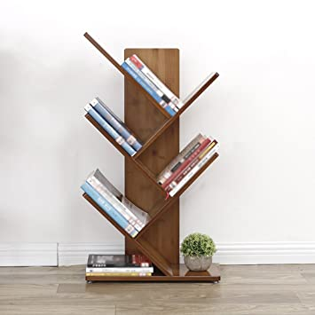 Storage Shelves Subbye Floor Standing Tree Shape Creative Bookshelf