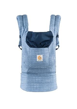 Ergobaby Original Award Winning Ergonomic Multi-Position Baby Carrier with X-Large Storage Pocket, Vintage Blue